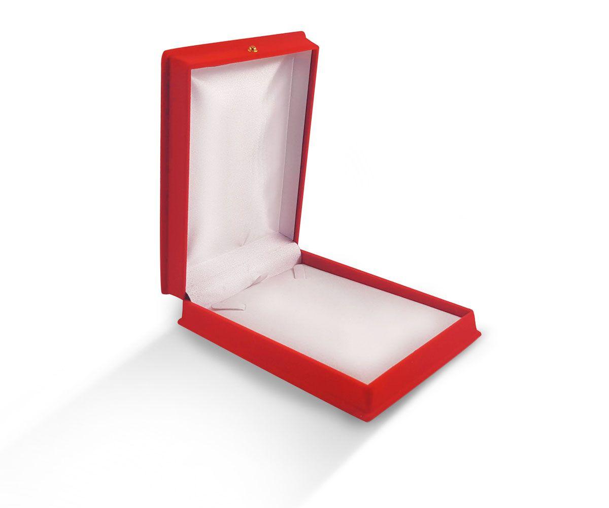 קופסת קטיפה לעגיל מלבני