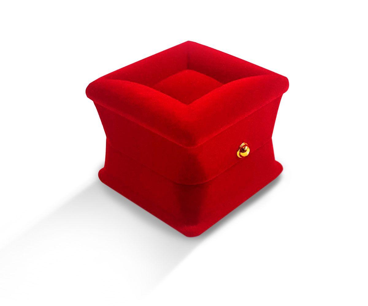 קופסת קטיפה מרובעת לטבעת