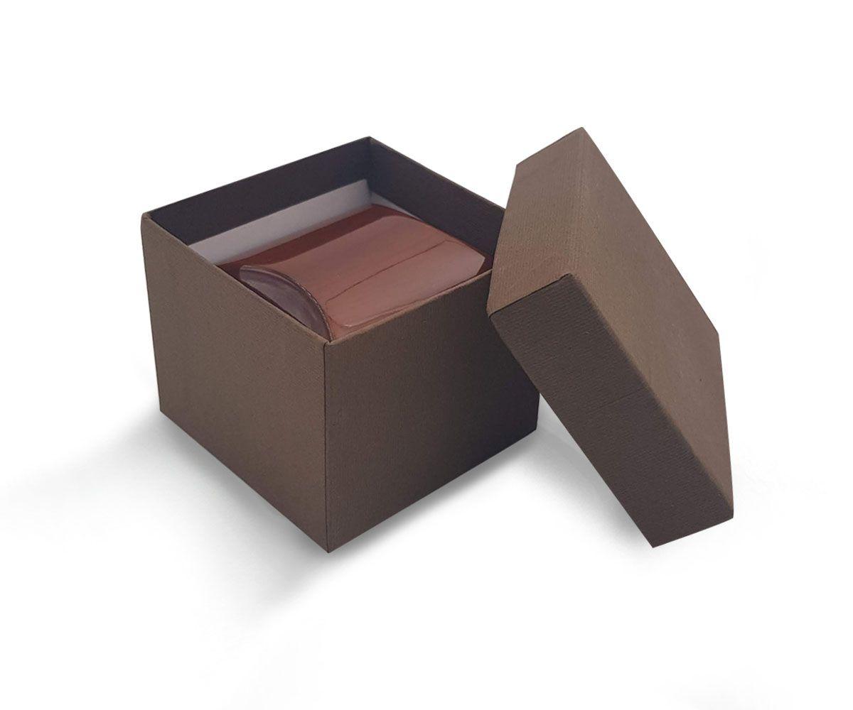 קופסת עץ לטבעת/עגיל 6X6