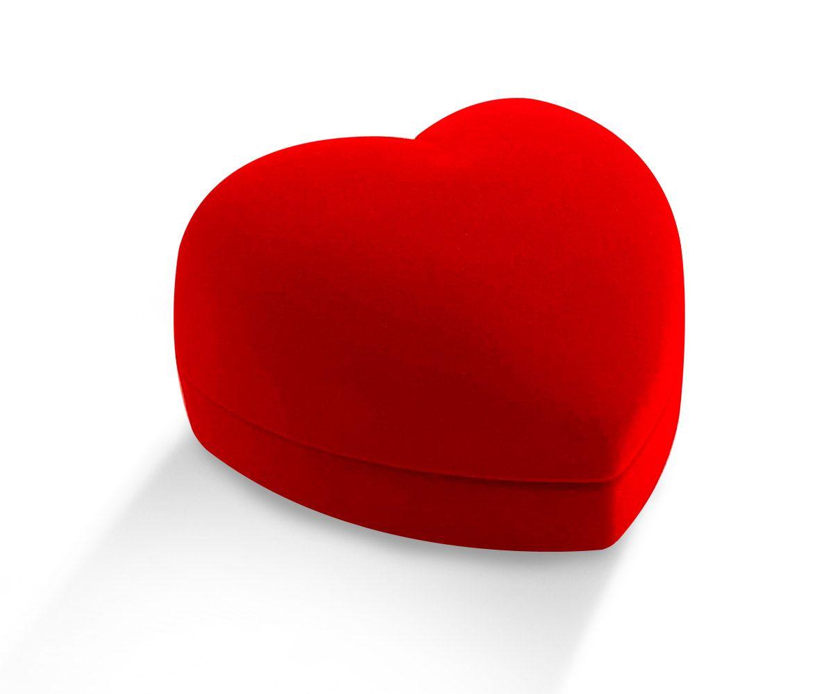 קופסת קטיפה לב נישואים