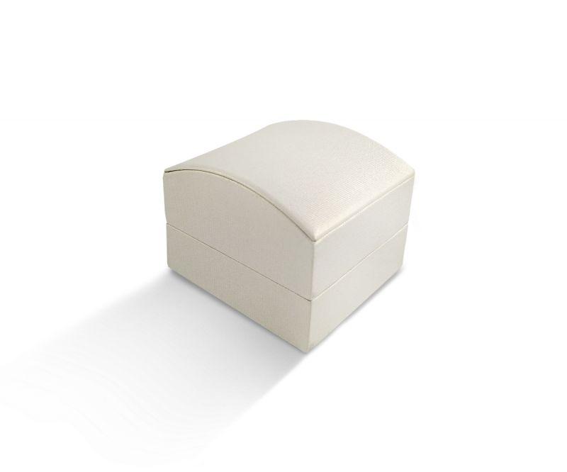 קופסת קרטיה שמנת מעוגלת לטבעת/עגיל