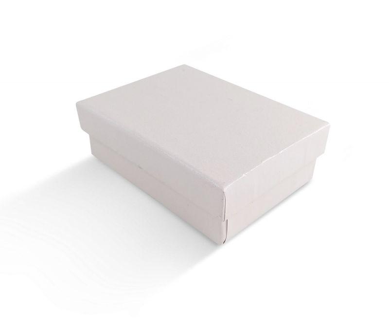 קופסת שמנת חלקה לעגיל/תליון 6X8