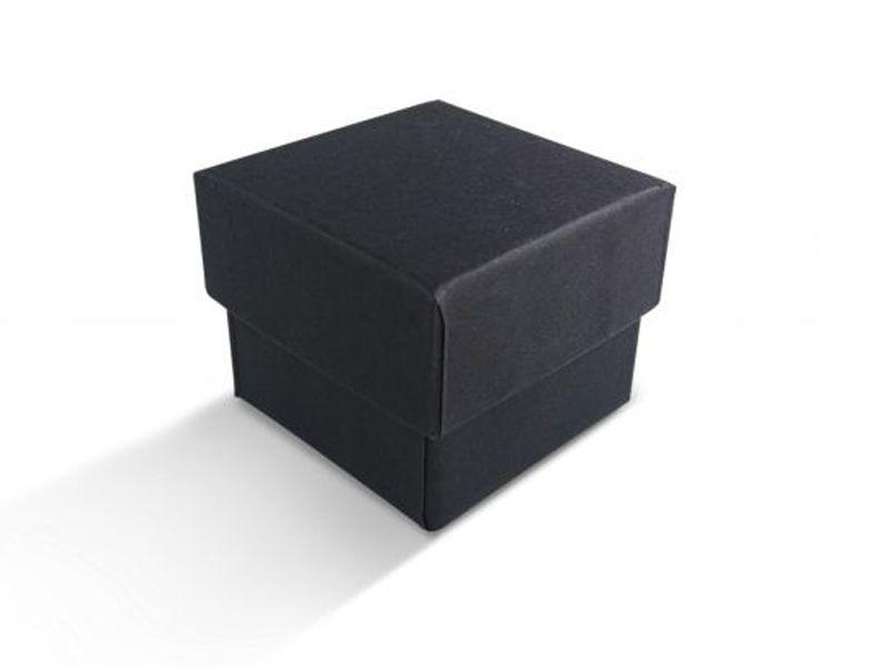 קופסה שחורה חלקה לטבעת 5X5X4