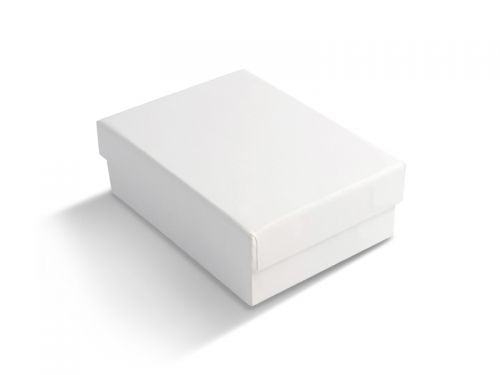 קופסה לבנה חלקה לעגיל/תליון 6X8