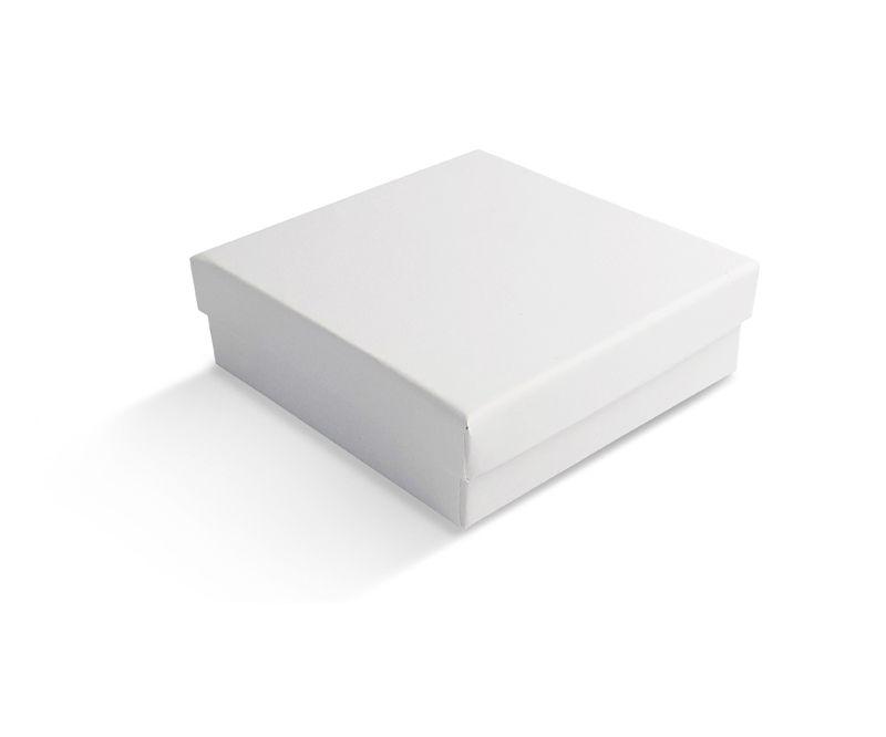 קופסה לבנה חלקה לתליון 9X9