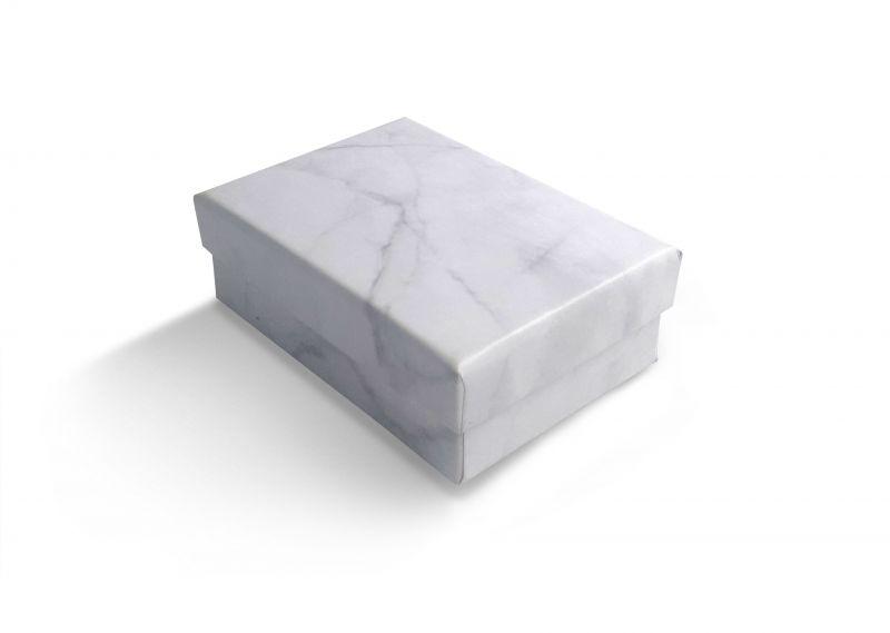 קופסה דמוי שיש לעגיל/תליון 6X8