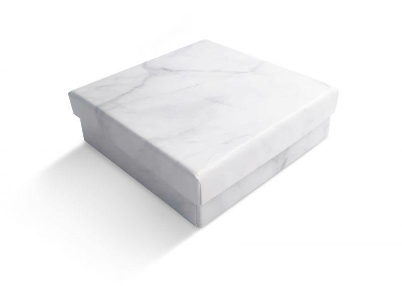 קופסה דמוי שיש לתליון 9X9
