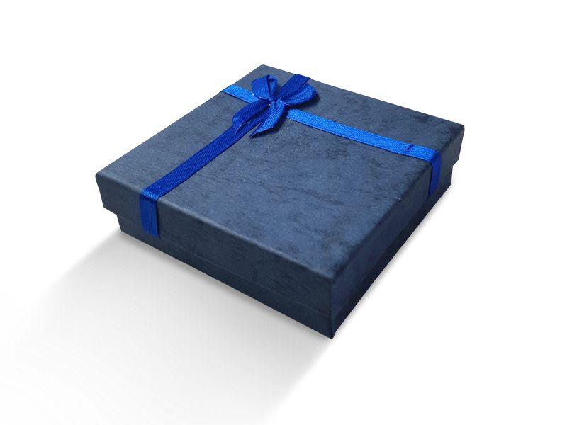 קופסה כחולה עם סרט לתליון 9X9
