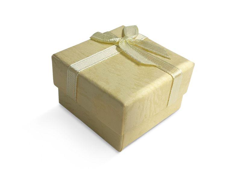 קופסה צהבהבה עם סרט לטבעת 5X5