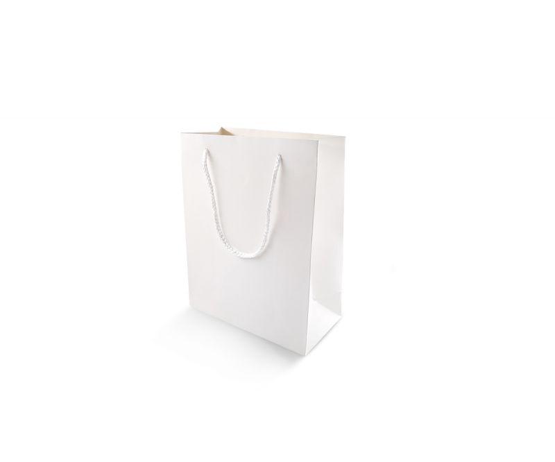 שקית אריזה לבנה חלקה - 16.5X21.5