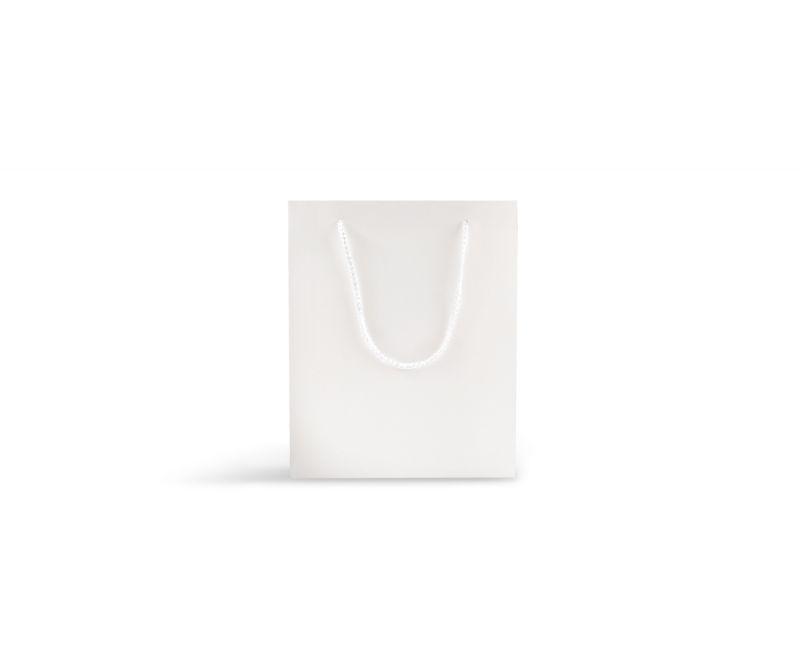 שקית אריזה לבנה חלקה - 12X17