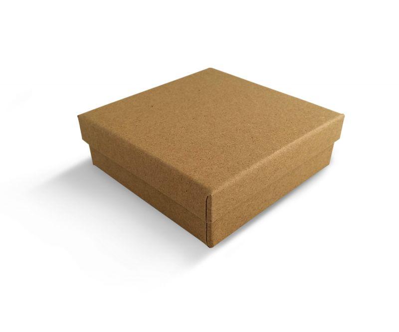קופסה בצבע טבעי חלקה לתליון 9X9