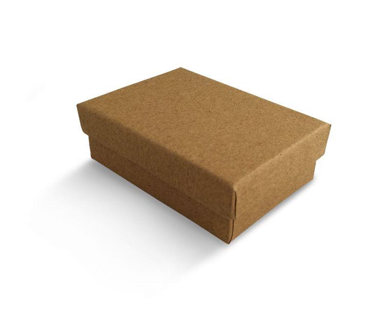 קופסה בצבע טבעי חלקה לעגיל/תליון 6X8