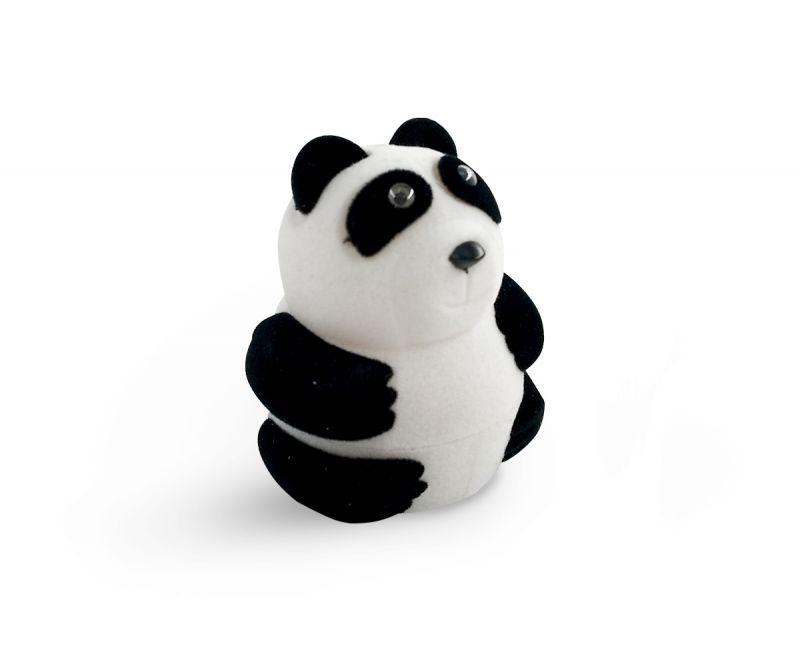 קופסת קטיפה לטבעת - דובי פנדה