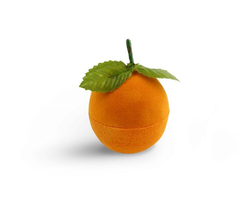 קופסת קטיפה לטבעת - תפוז