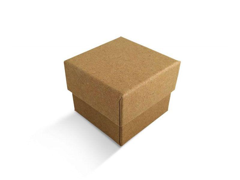 קופסה בצבע טבעי חלקה לטבעת 5X5X4